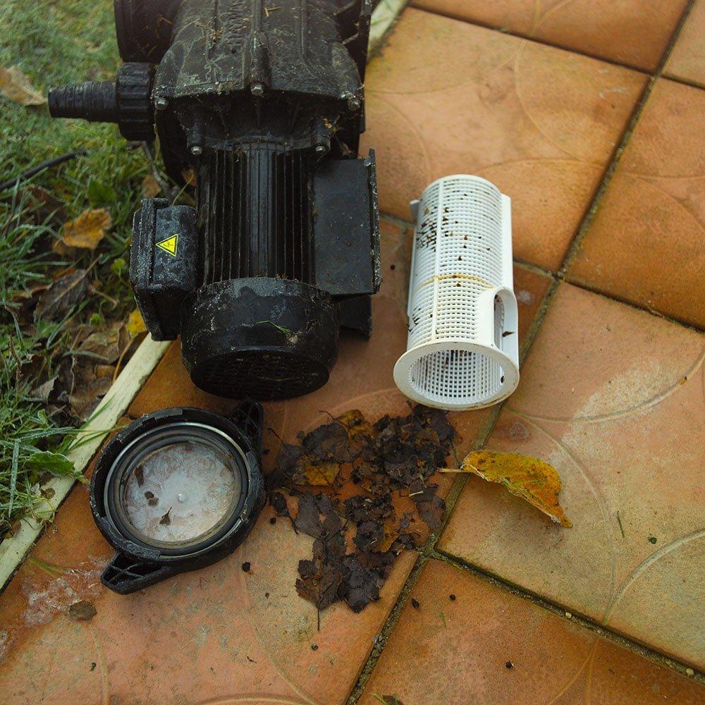 Clogged Debris in Pump Impeller